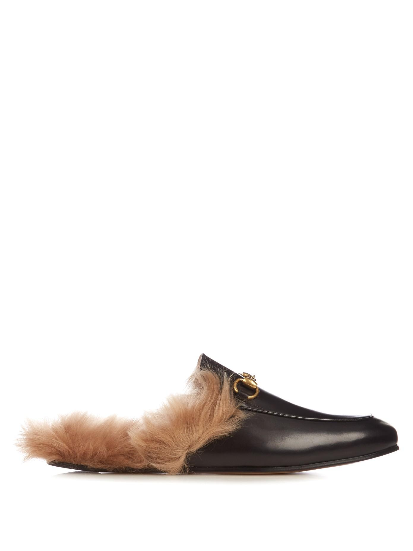 Gucci Fur Lined Backless Loafer