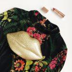 Floral + Velvet Dress