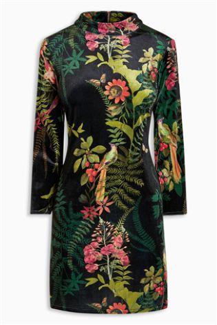 Velvet Floral Dress | Next