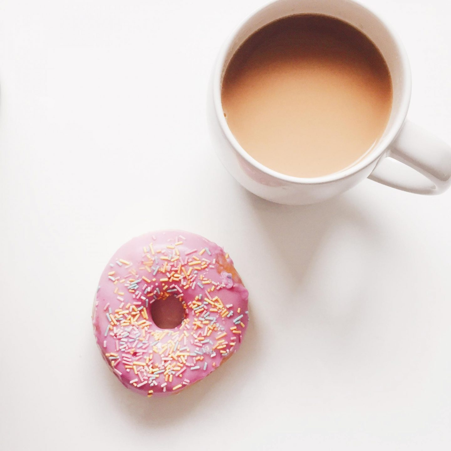Doughnut-and-tea-flatlay