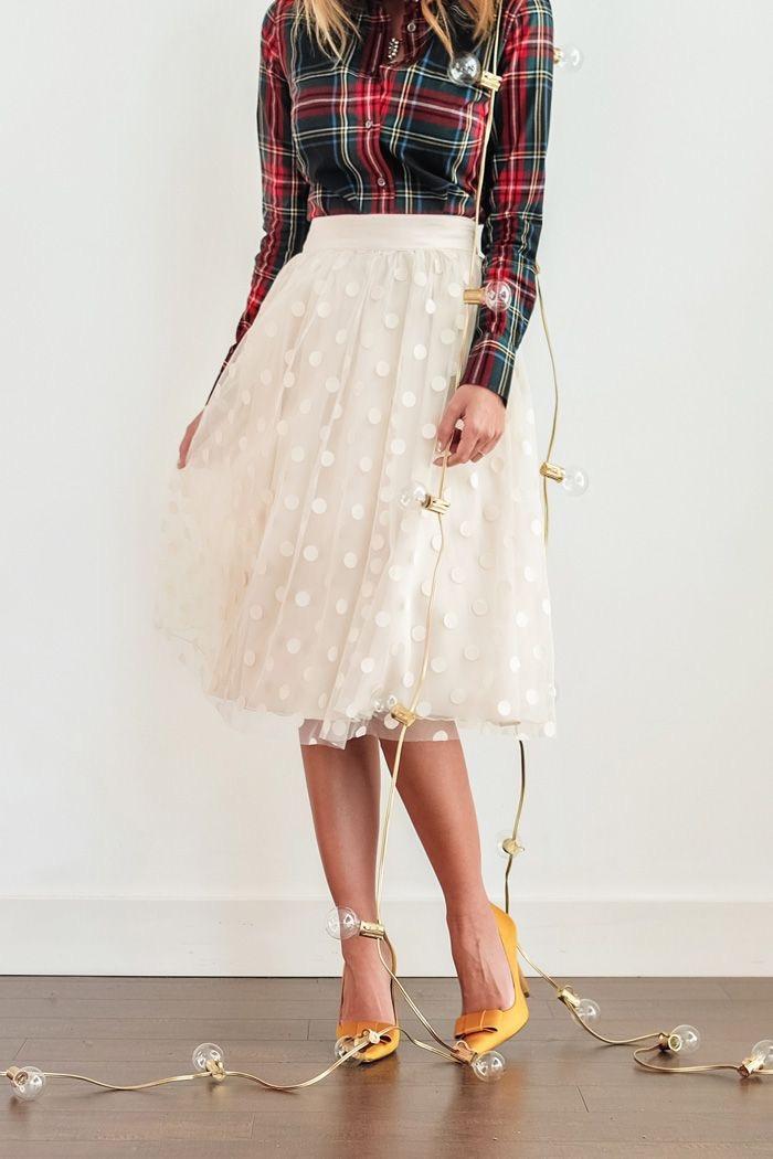Tulle -skirt-plaid-shirt