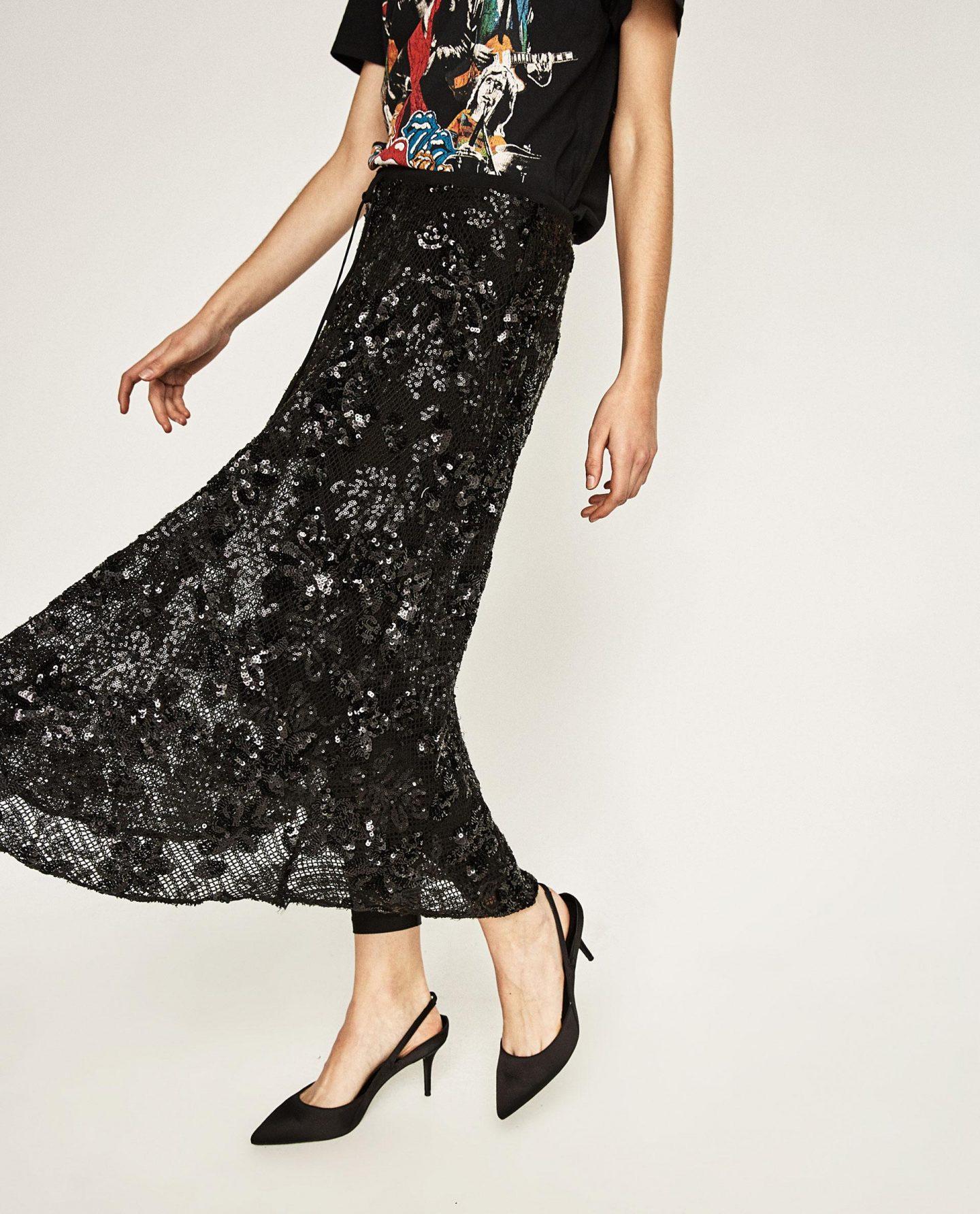 Zara equin Skirt w Leggings