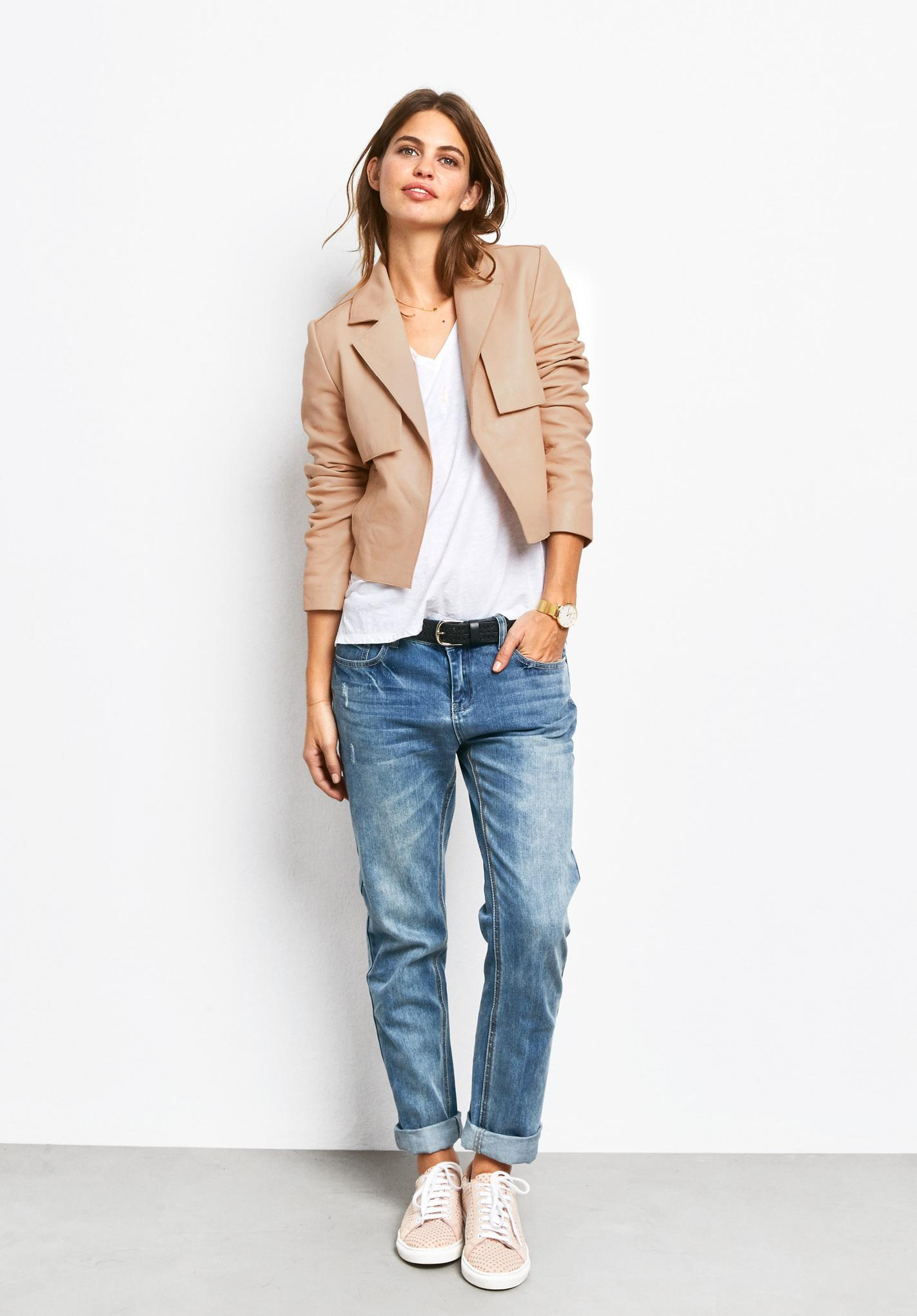 The Pay Day Edit | Nude Leather Jacket | Hush
