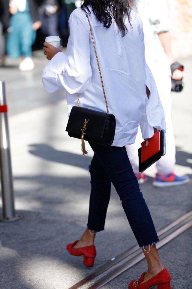 Oversized shirt | YSL Bag